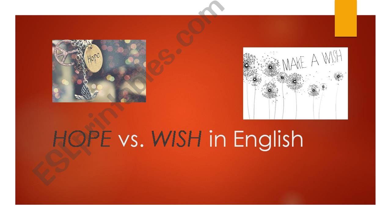 Hope vs. Wish powerpoint