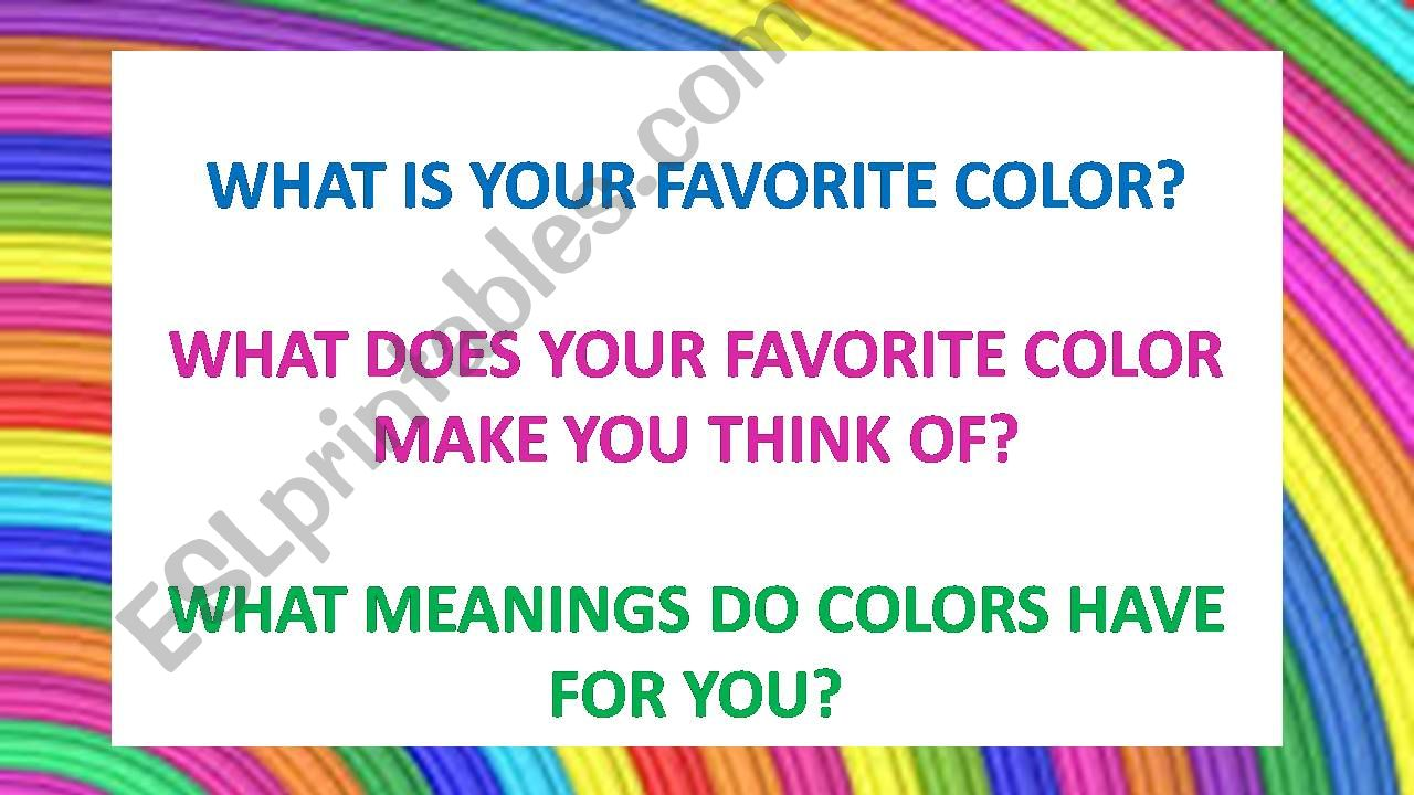The meaning of colors powerpoint