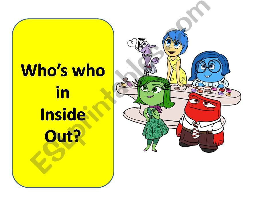 Who´s who? Inside Out powerpoint