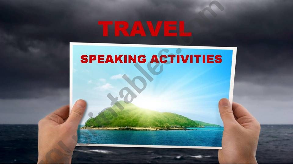 TRAVEL (speaking activities) powerpoint