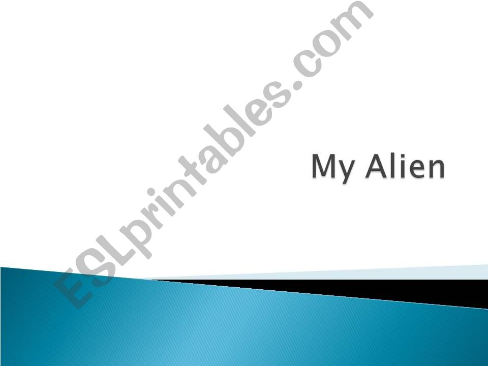 My alien powerpoint