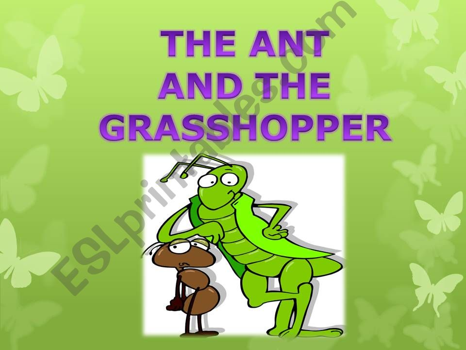 THE ANT AND THE GRASSHOPPER powerpoint