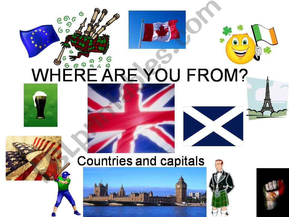 Where are you from? powerpoint