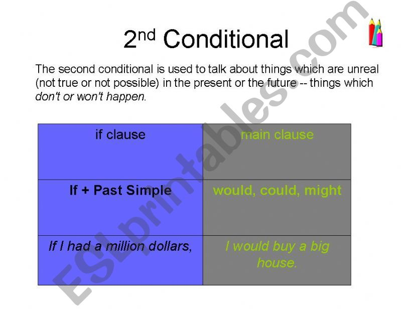 2 & 3 conditionals powerpoint