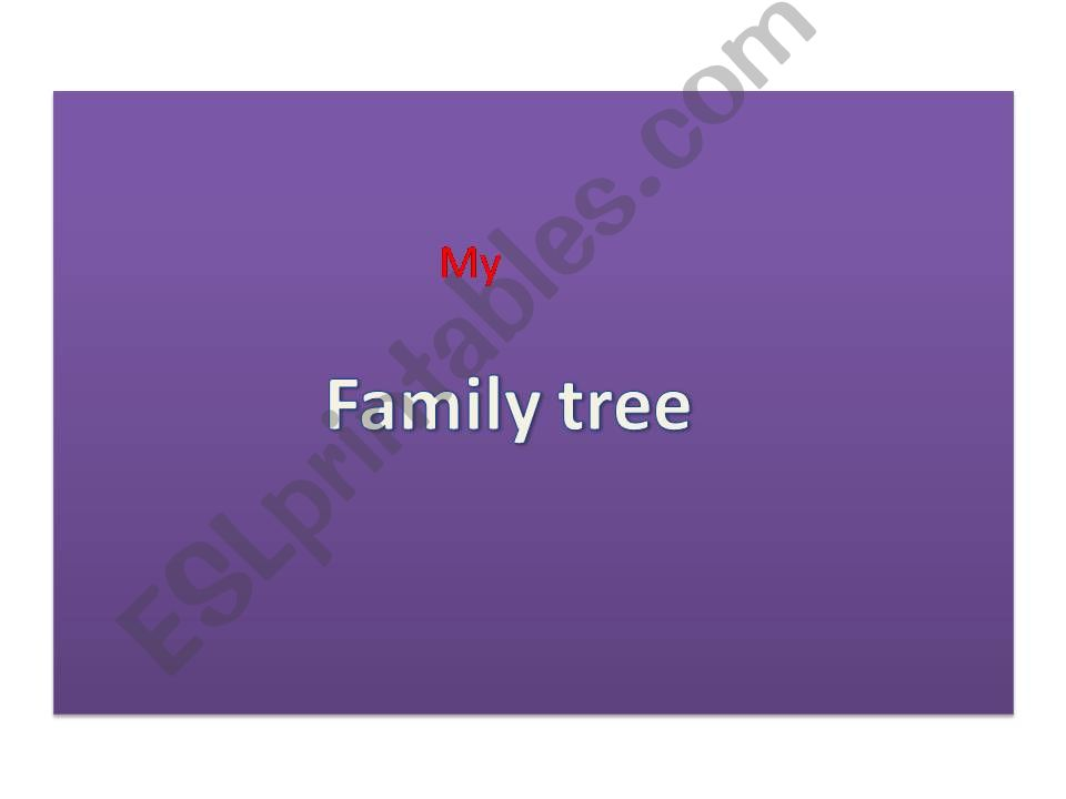 family tree powerpoint