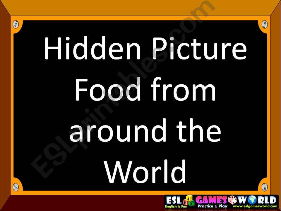 Food around the World powerpoint