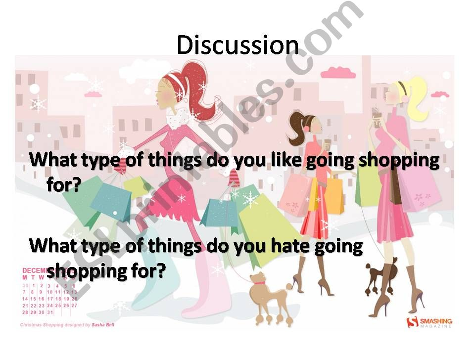 Shopping Discussion Questions powerpoint