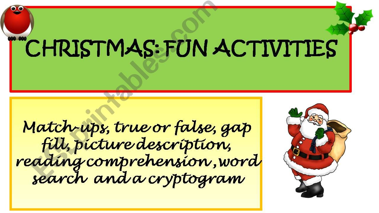 Christmas Activities powerpoint