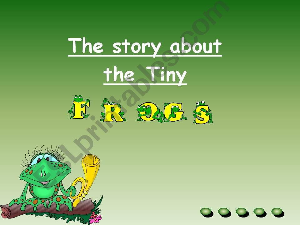 Very / Too - A story about tiny frogs
