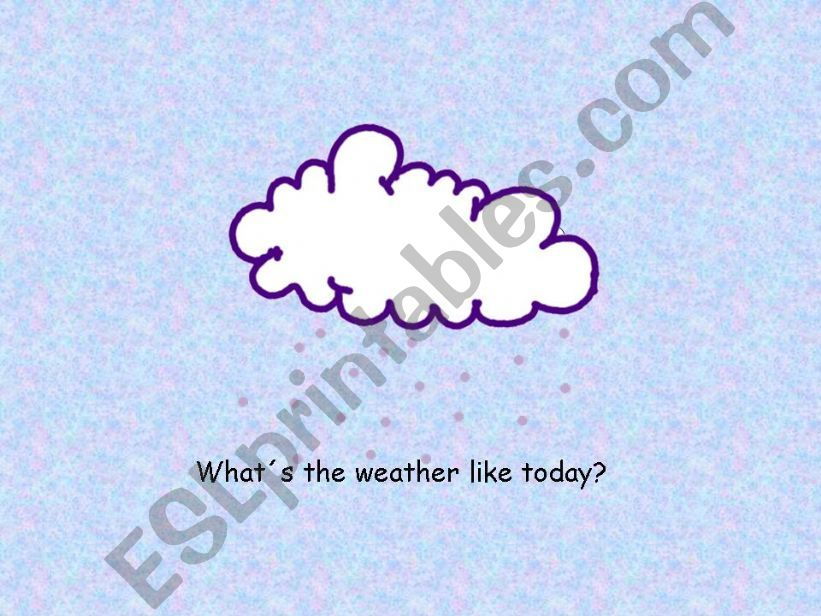 Part 2: The weather powerpoint