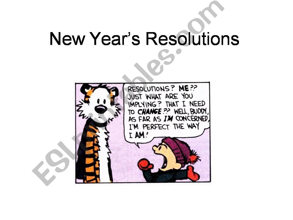 NEW YEARS RESOLUTIONS - ADVANCED CONVERSATION STARTER