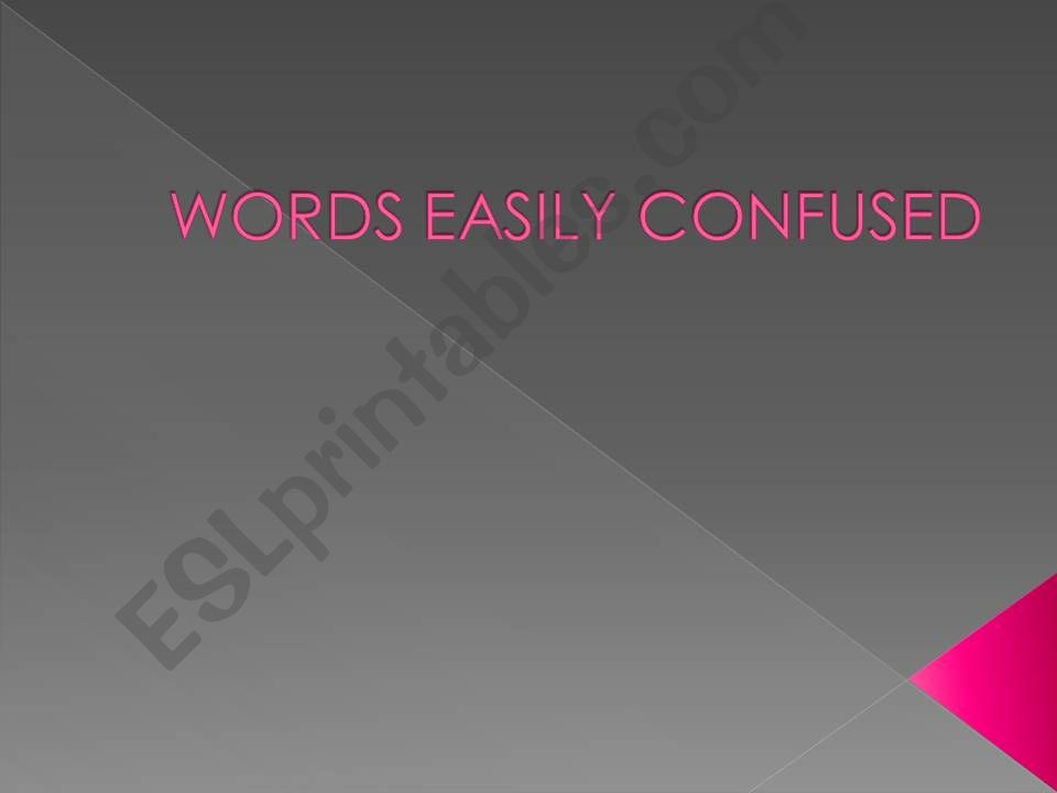 words easily confused powerpoint