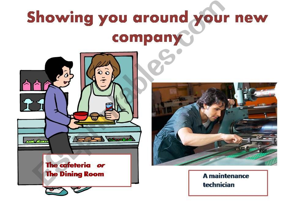 Technical English: Showing you around your new company - Vocabulary