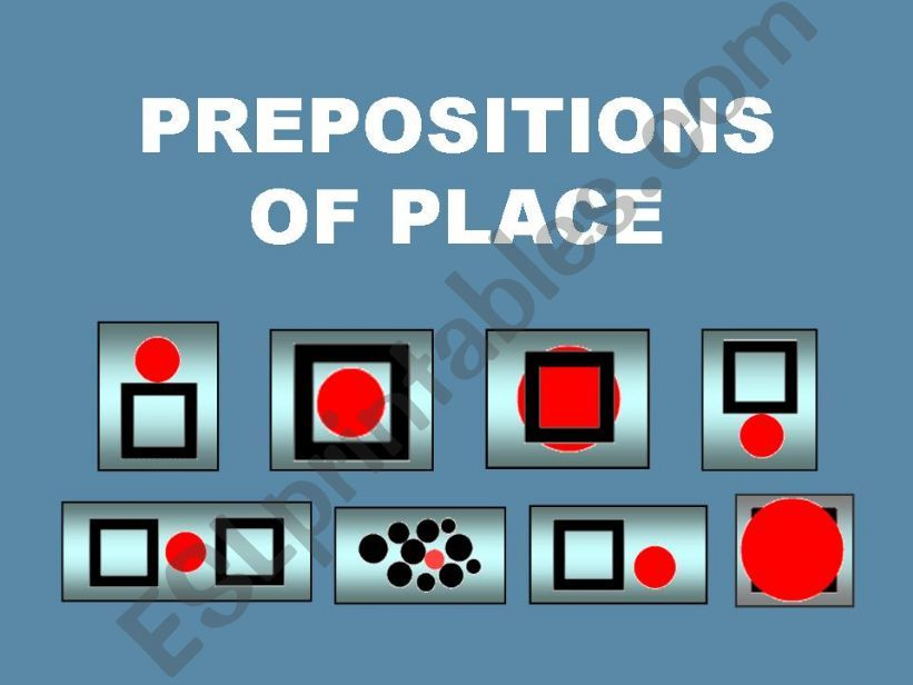 PREPOSITIONS OF PLACE --- WHERE (9 pages)