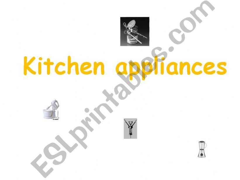 kitchen appliances powerpoint