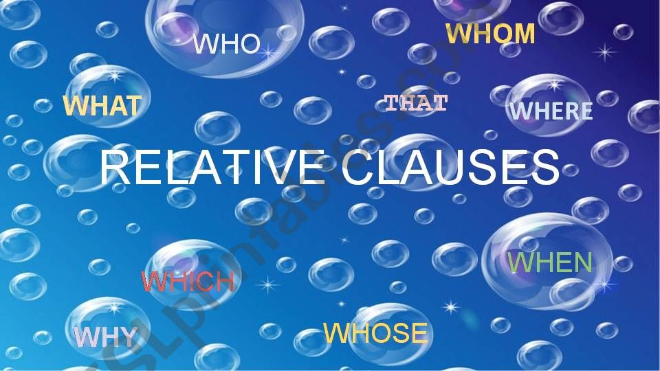 Relative Clauses powerpoint