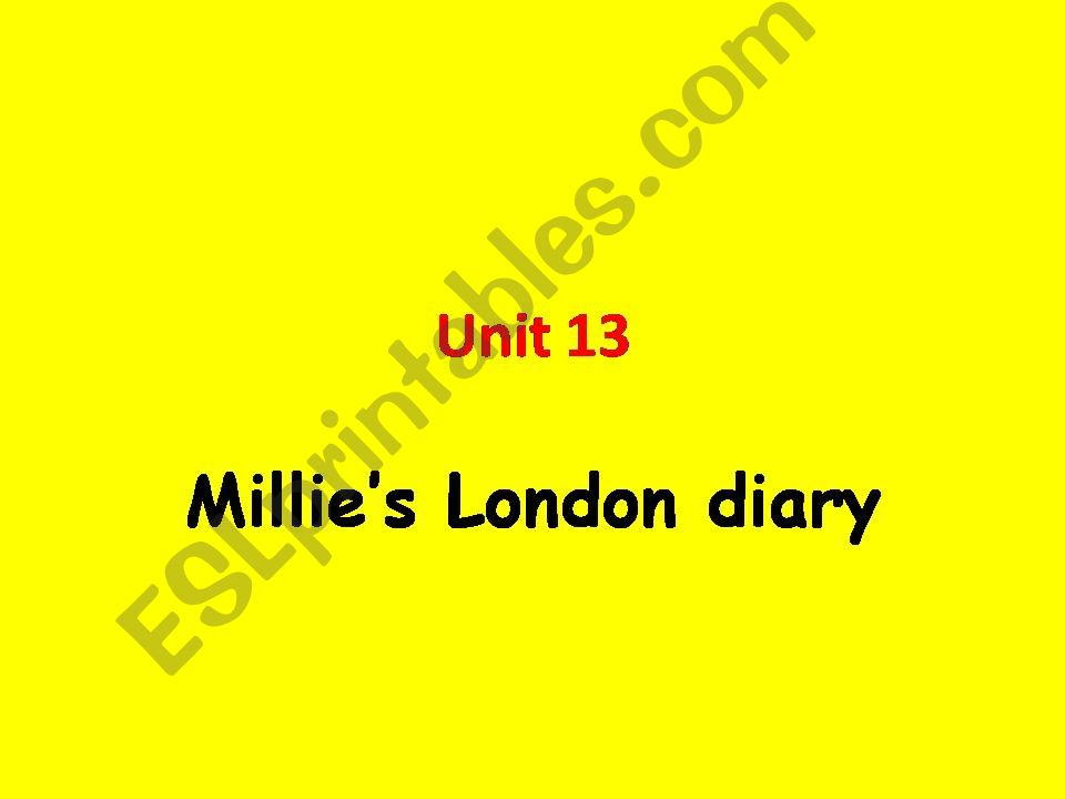 Millie´s London Diary powerpoint