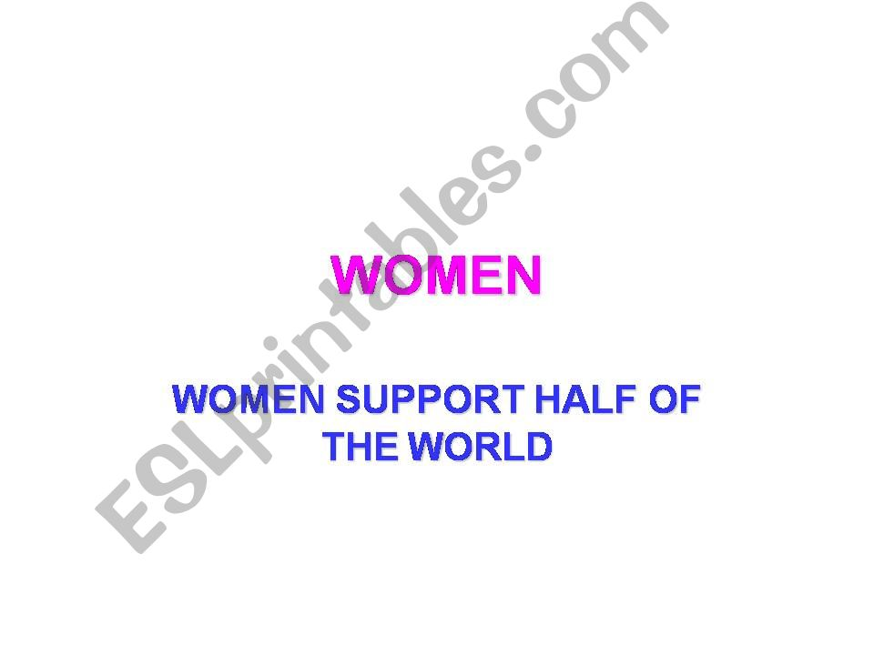 WOMEN powerpoint