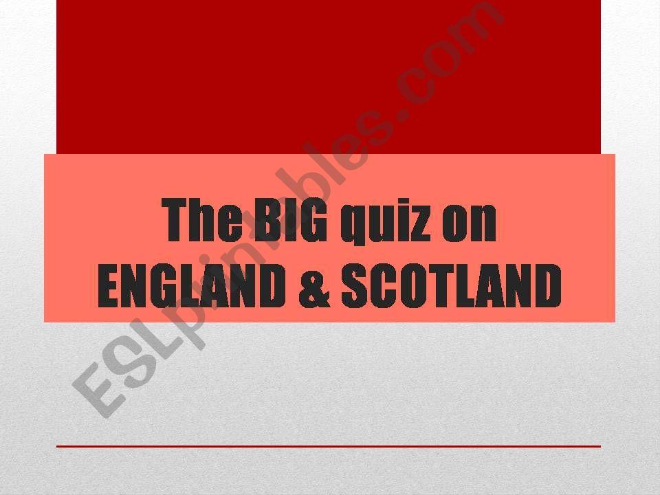 England vs Scotland powerpoint