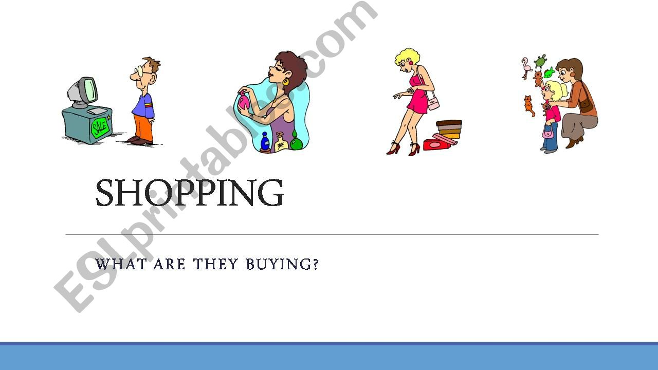 SHOPPING powerpoint