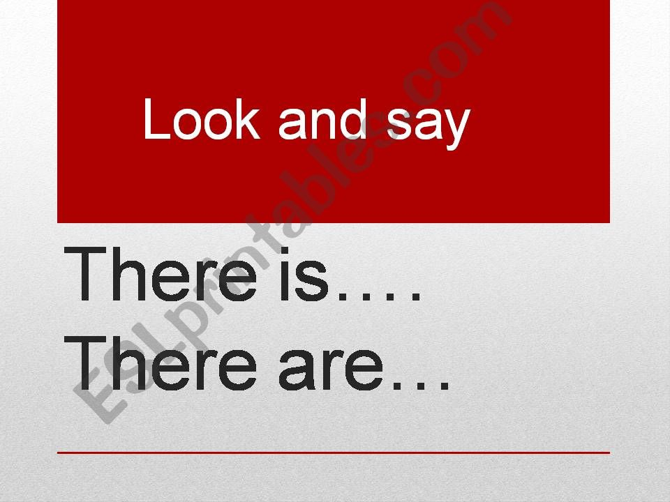 There is/there are + numbers powerpoint