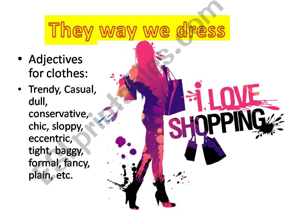 dialogues about clothes powerpoint