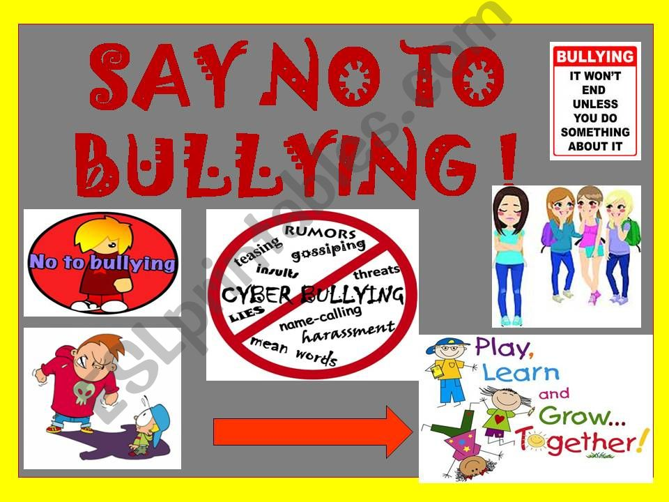 Say no to bullying with practice of should shouldn´t