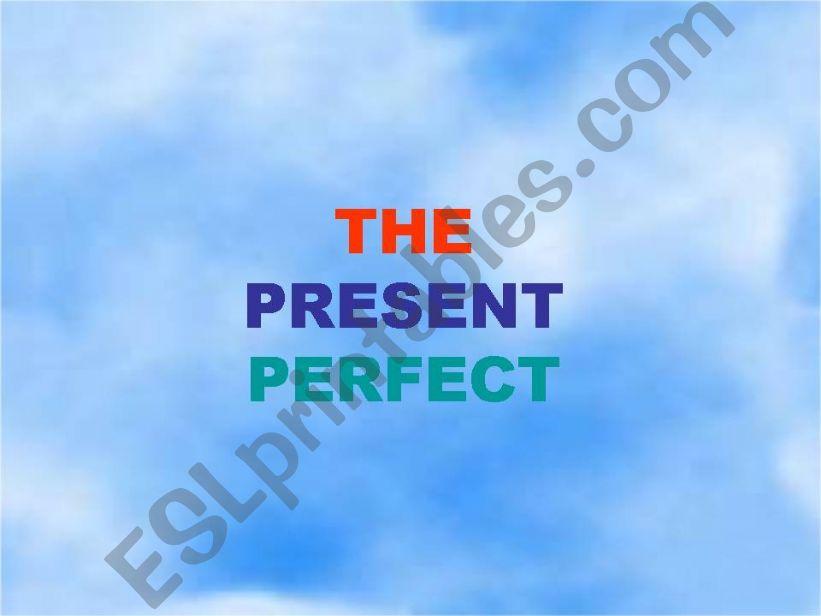 Powerpoint  presentation  (present perfect)