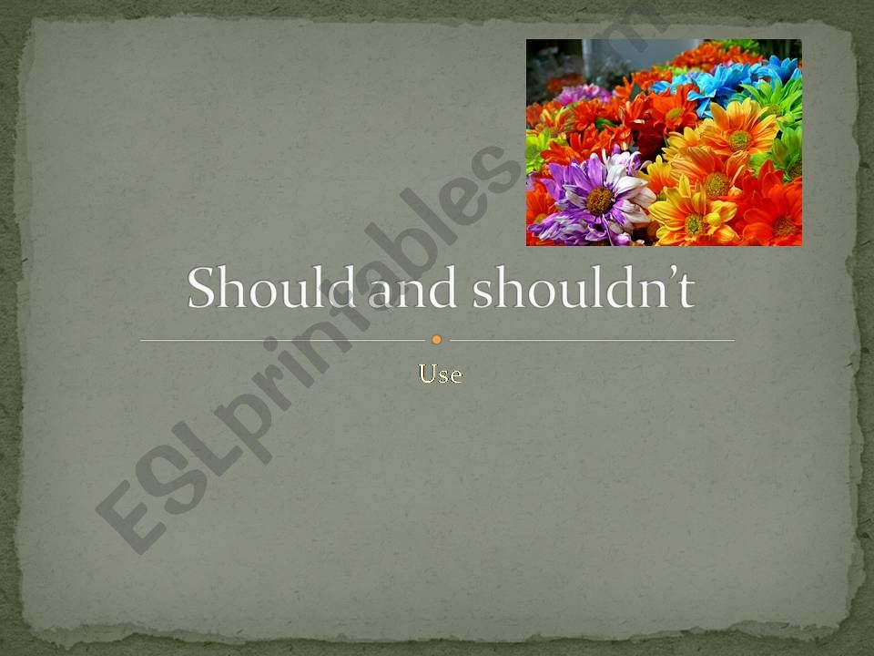 Should and shouldn´t powerpoint