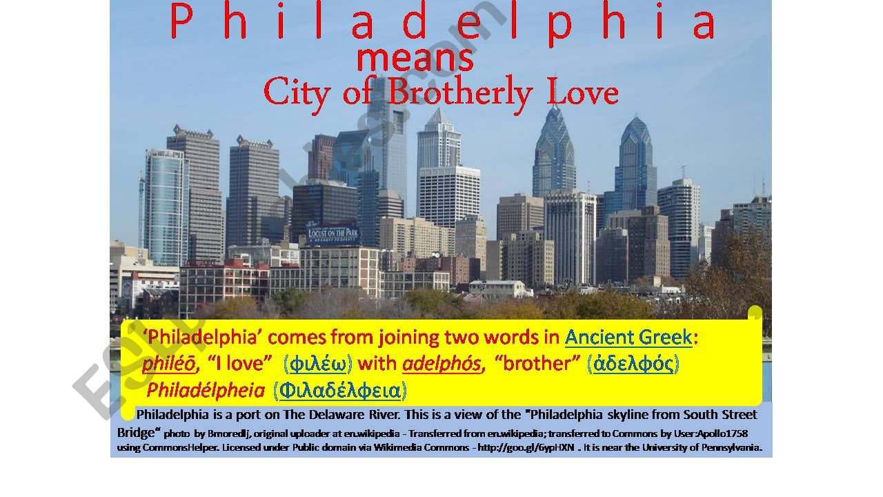 ABCs of Philadelphia, a Tour of History, Sights, and Culture--Part One