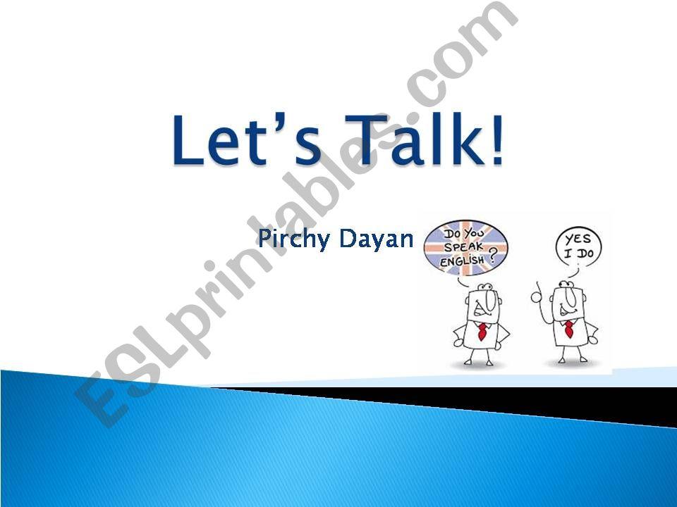 Let´s talk powerpoint