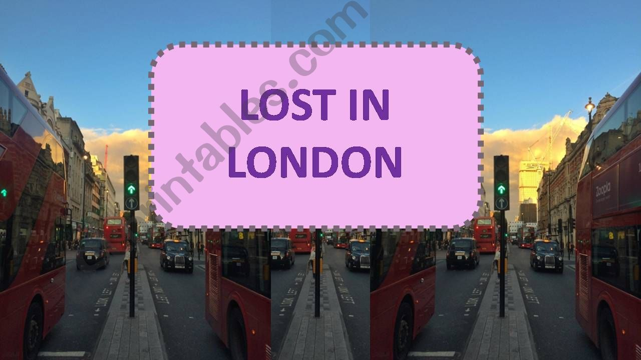 Lost in London powerpoint