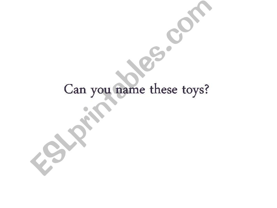 Toys and demonstrative adjectives