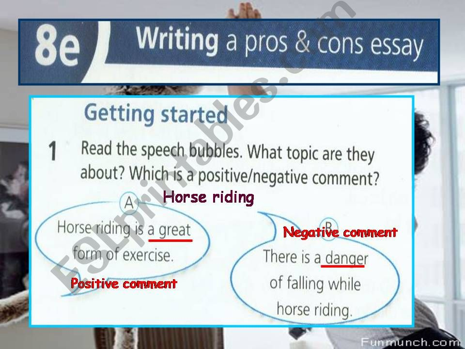 Lesson for writing pro and con essay