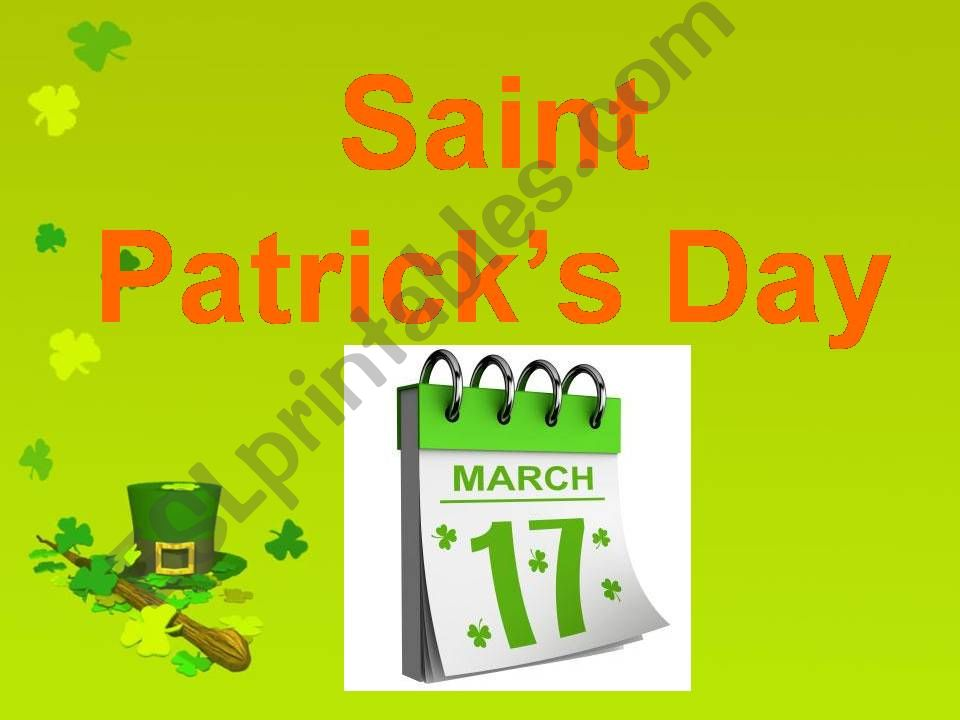 Saint Patrick´s Day powerpoint