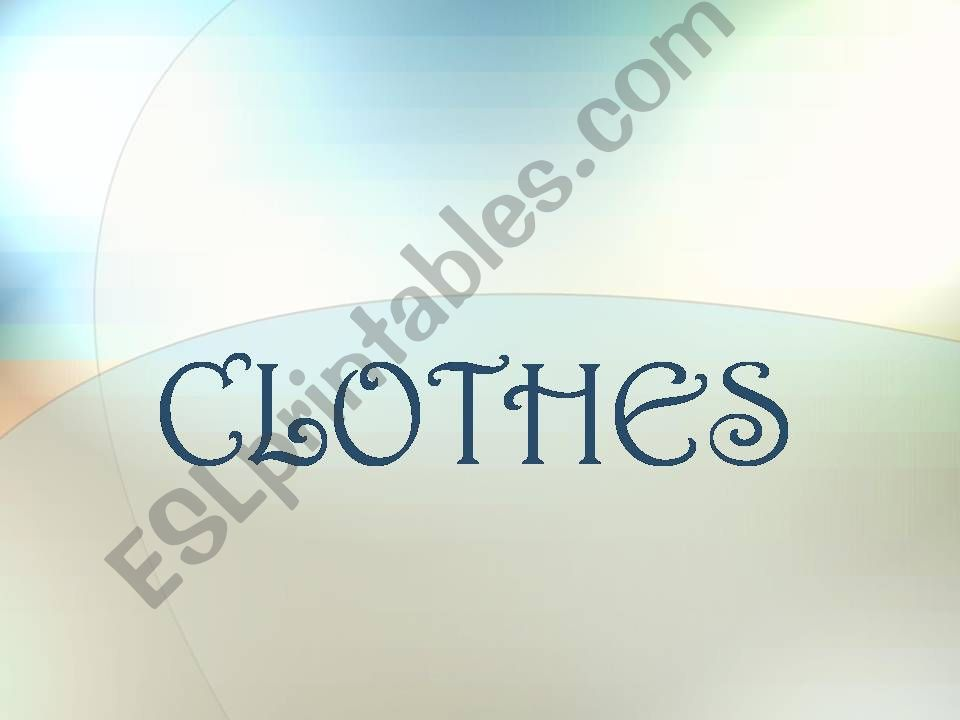 Clothes, body and colours powerpoint