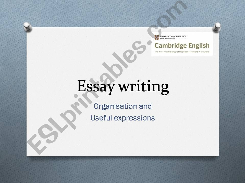 ESL - English PowerPoints: Essay writing