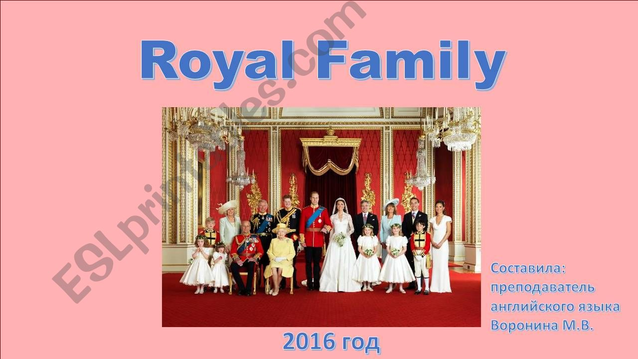 Royal Family powerpoint