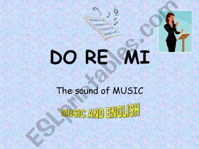 DO RE MI  THE SOUND OF MUSIC powerpoint
