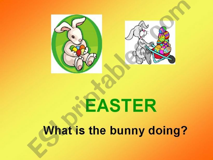 Easter-What is the bunny doing?