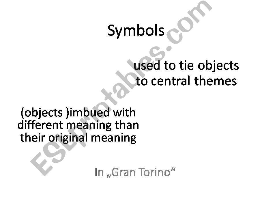 gran torino symbols