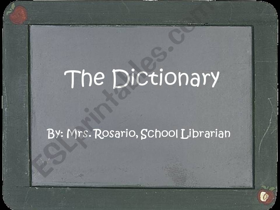 The Dictionary powerpoint