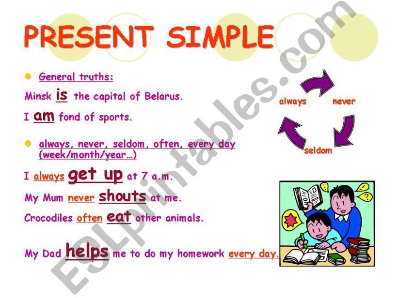 Simple tenses +Present Continuous