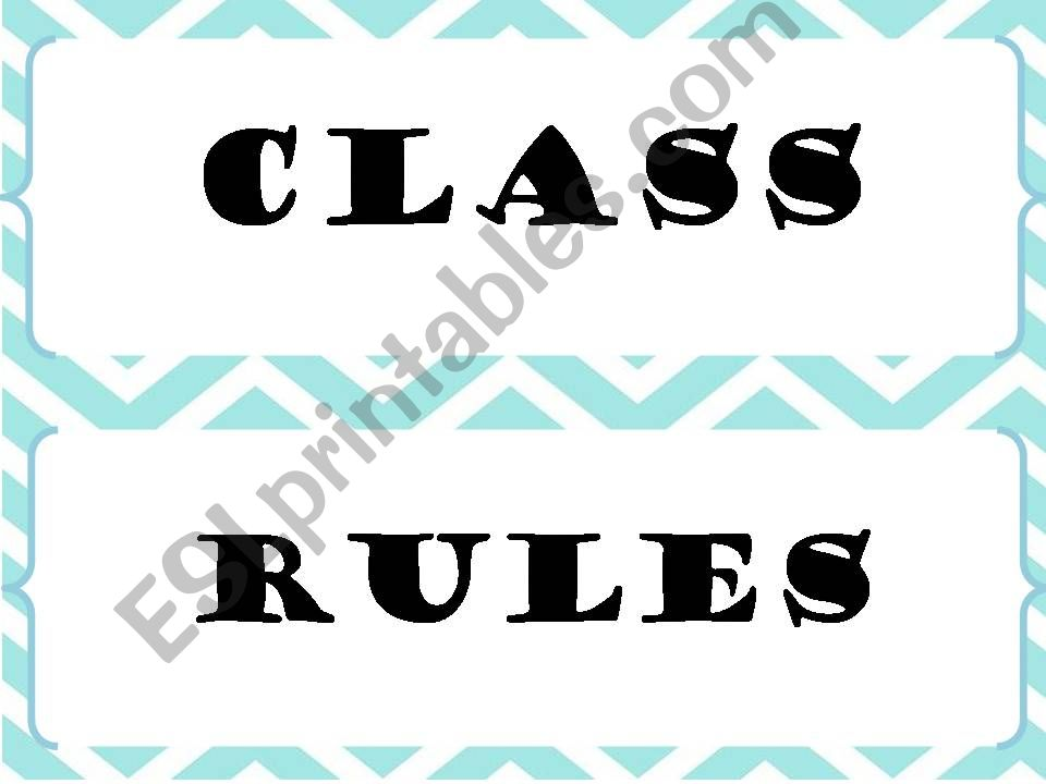 class rules powerpoint