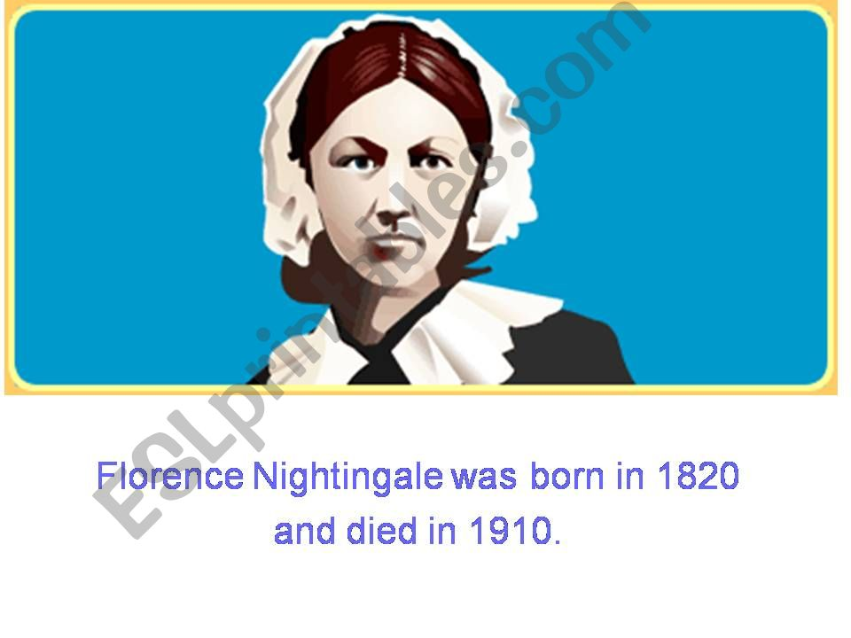 FLORENCE NIGHTINGALE powerpoint
