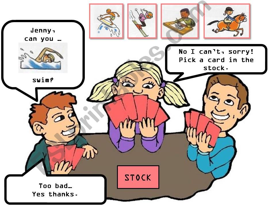can you + sports - CARD GAME happy families