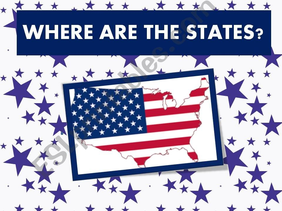 Where are the US states ? Prepositions of place