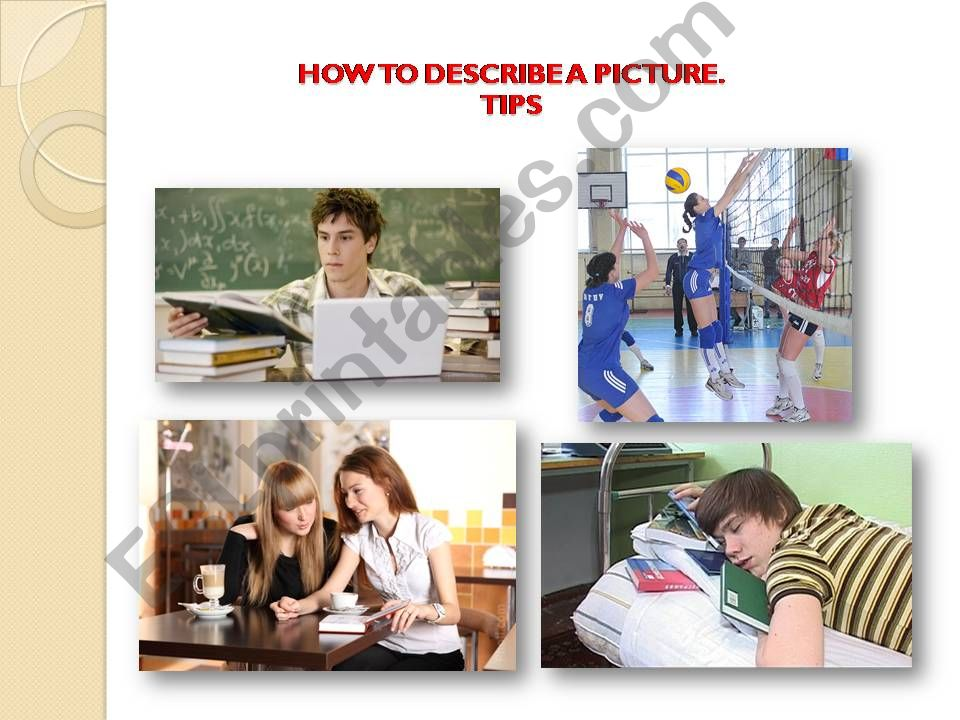 How to describe a picture. Tips.