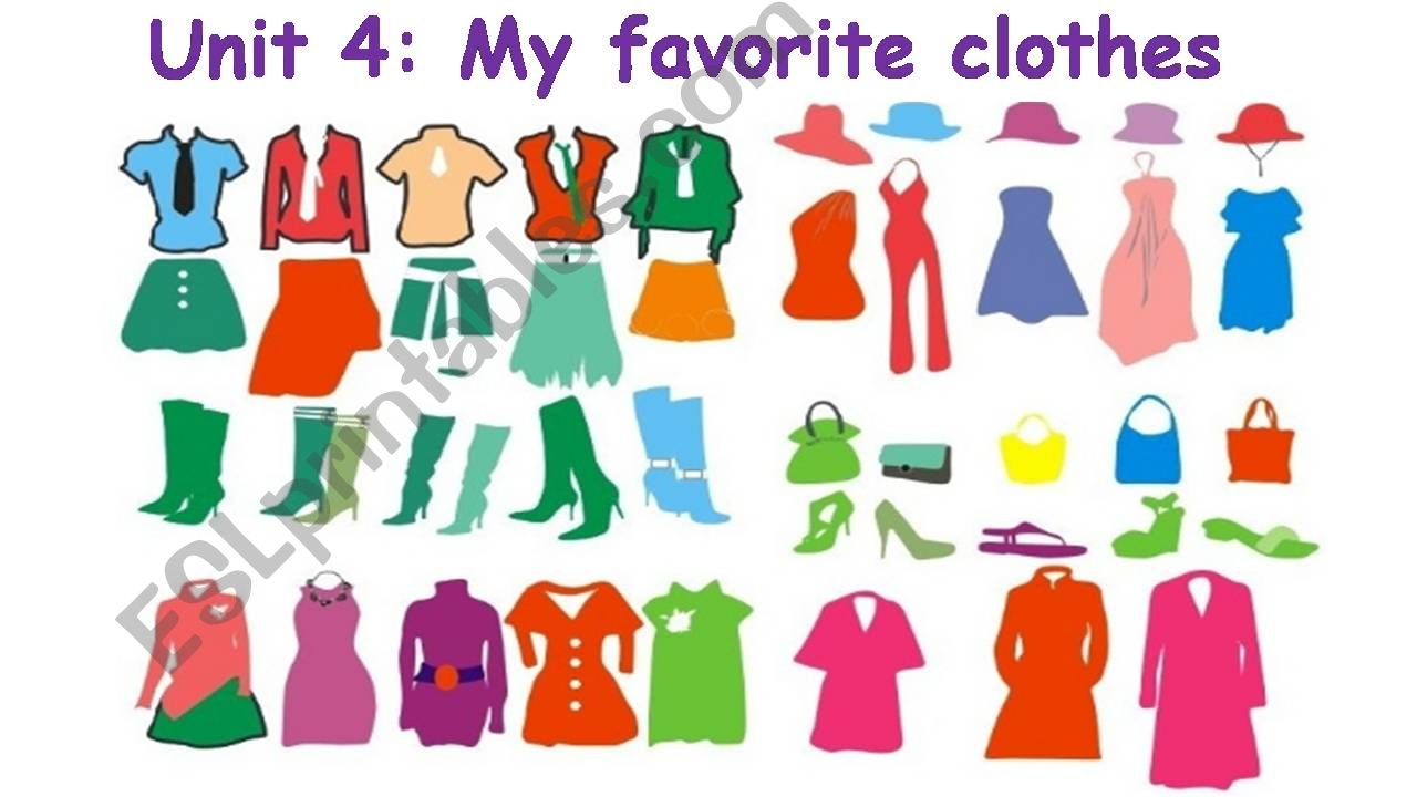 My favorite clothes powerpoint