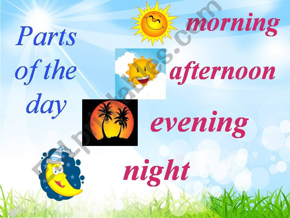 Parts of the Day powerpoint